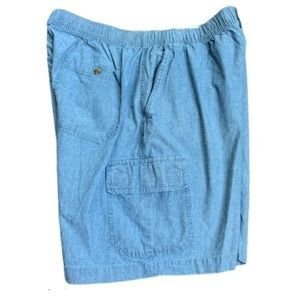 Savane Chambray Shorts Color Best Shown in Tag Pic